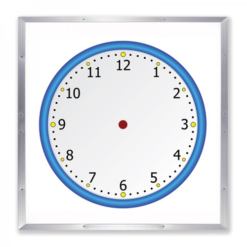 "Frameworks 48"" x 48"" Blank Clock Face Dry-Erase Board with Aluminum Frame (FW-90000) - $125 Image 1"