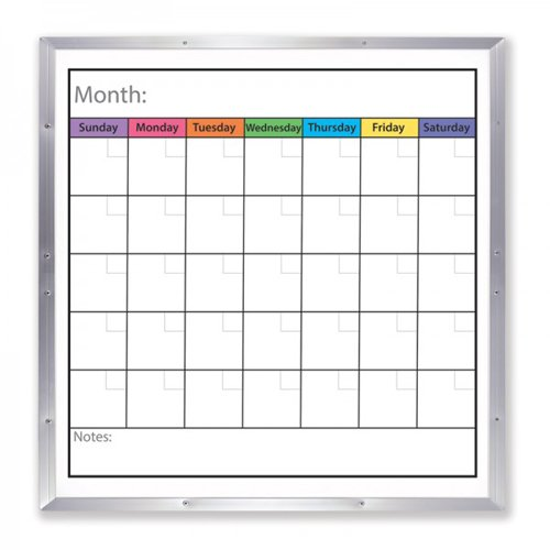 Dry Erase Boards with Monthly Calendar