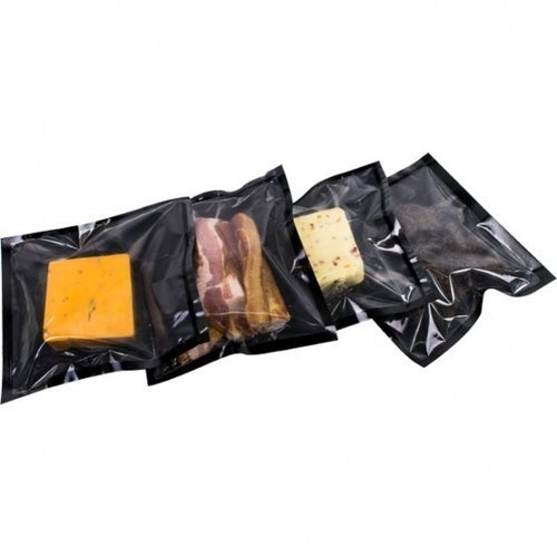 "SealerSales 8"" x 10"" 4mil Clear/Black Vacuum Bags - 1000pk (VB414-0810-1000) Image 1"