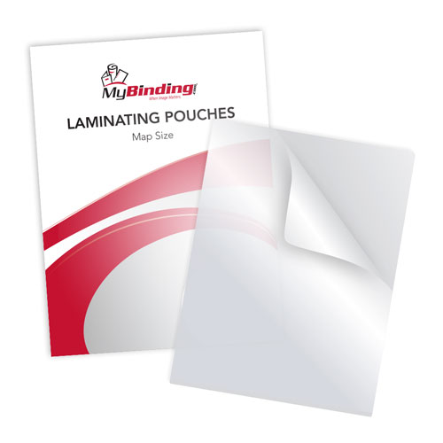 "5MIL Map Size 18"" x 24"" Laminating Pouches - 100pk (TLP5MAP) Image 1"