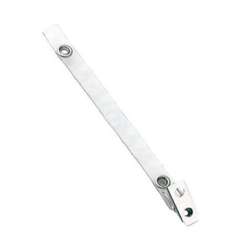 "5-3/4"" Clear Vinyl Straps with 2-Hole Clips - 100pk (2105-3250) Image 1"