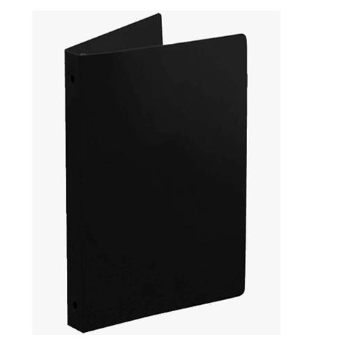 """55 Gauge Black 5.5"""" x 8.5"""" Poly Round Ring Binders - 100pk (MYPBBLK55H) Image 1"""