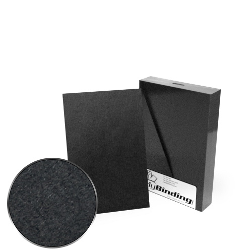 "5.5"" x 8.5"" Half Size 100pt Black Chipboard Covers - 25pk (MYCBB5.5X8.5-100) Image 1"