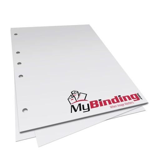 "20lb 8.5"" x 11"" 5 Hole Left Punched Paper - 5000 Sheets (MY8.5X115HLPP20CS)"