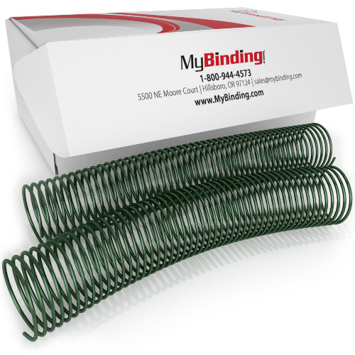 50mm Metallic Forest 4:1 Pitch Spiral Binding Coil - 100pk (P4MF5012) Image 1