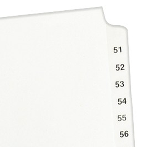 "Avery 51-75/TOC Legal 11"" x 8.5"" Style Collated Dividers (AVE-11396) - $2.96 Image 1"