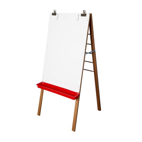 "Crestline 54"" x 24"" Classroom Painting Easel with 24"" x 36"" Dry-Erase Surface (CL-17387) Image 1"