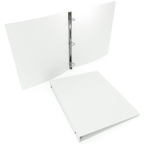 "1-1/2"" White 55 Gauge 11"" x 8.5"" Poly Round Ring Binders - 100pk (MYPBWHT55112), MyBinding brand Image 1"