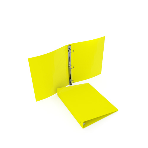 "2"" Yellow 55 Gauge 5.5"" x 8.5"" Poly Round Ring Binders - 100pk (MYPBYW55200H) - $343.39 Image 1"