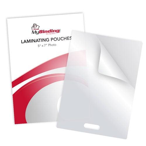 "5MIL 5"" x 7"" Photo Card Laminating Pouches with Short Side Slot - 100pk (SSLLKLP5PHOTO5X7) Image 1"