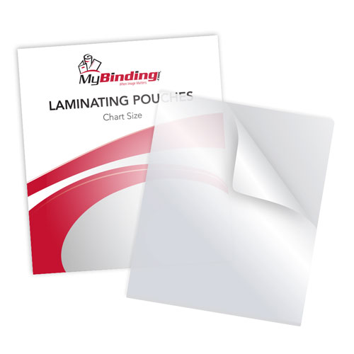"5MIL Chart Size 15"" x 18"" Laminating Pouches - 100pk (TLP5CHART) Image 1"