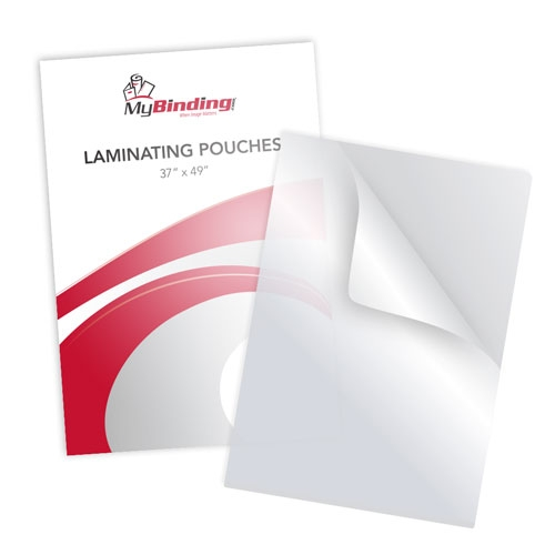 "Clear 37"" x 49"" Laminating Pouches - 25pk (MYLP37X49C) Image 1"