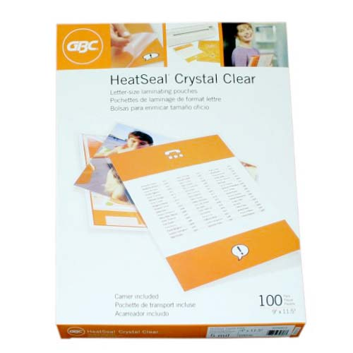 Heatseal Crystal Letter Size Pouches Image 1