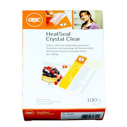 GBC 5mil HeatSeal Crystal Clear Small Index Card Pouches (3200422) - $2.76 Image 1