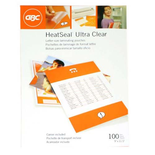 GBC Heat Seal 5mil Laminating Pouches Image 1