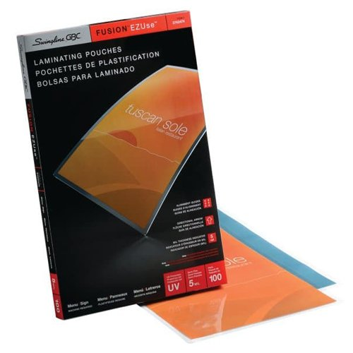 GBC Swingline EZUse 5mil Menu Size Thermal Laminating Pouches 100pk - C (3740474) Image 1