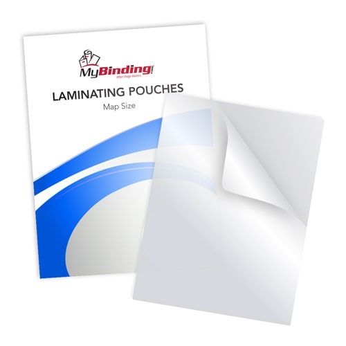 Matte Clear Map Size Laminating Pouches (MYLKLPMAPMC) Image 1