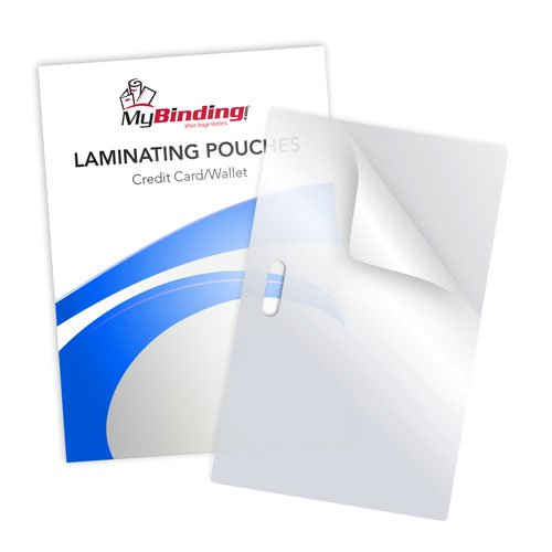 Clear Matte Laminating Pouches with Slot Image 1