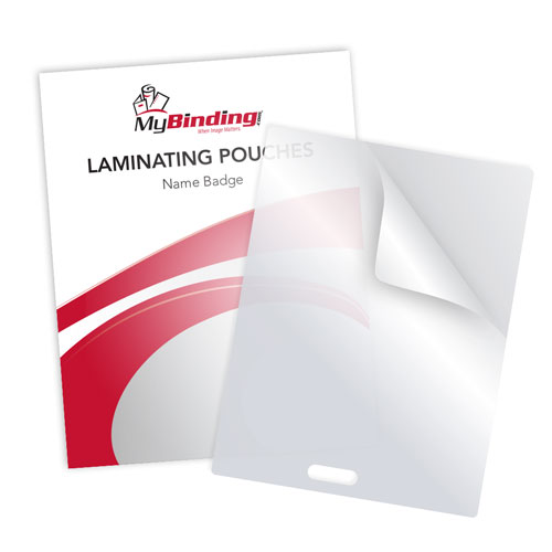 "5MIL Name Badge 4"" x 3"" Laminating Pouches with Short Side Slot - 100pk (SSLTLP5NAME) - $17.81 Image 1"