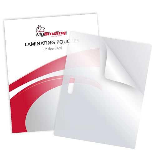 "5MIL Recipe Card 3-3/16"" x 4-3/8"" Laminating Pouches with Long Side Slot - 100pk (LSLTLP5RECIPE)"