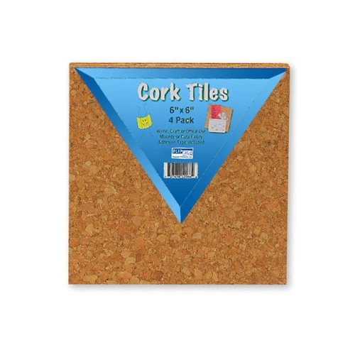 "Flipside 6"" x 6"" Natural Cork Tiles - 24pk (FS-12066) - $25.71 Image 1"
