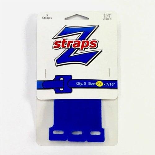 "Z-Straps Blue 7/16"" x 23"" Hook & Loop Vinyl Roll Straps - 5/Pack (ZS5BLU), Z-Straps brand Image 1"