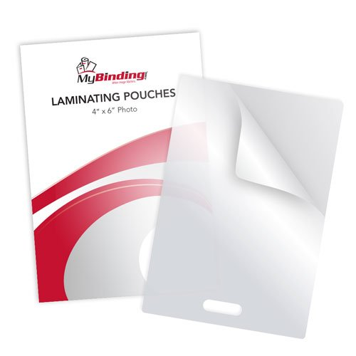"7MIL 4"" x 6"" Photo Card Laminating Pouches with Short Side Slot - 100pk (SSLLKLP7PHOTO4X6) Image 1"