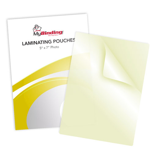 "7mil 5"" x 7"" Photo Size Sticky Back Laminating Pouches - 100pk (LKLP7PHOTO5X7A) Image 1"