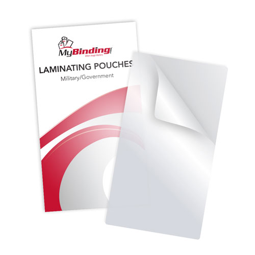 "10MIL Credential 2-3/4"" x 5-1/6"" Laminating Pouches - 100pk (TLP10CREDENTIAL) Image 1"