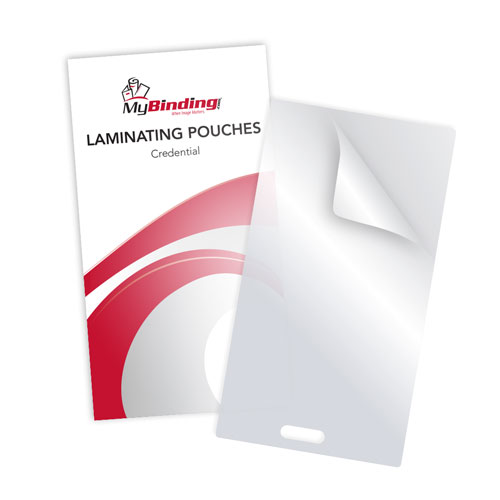 "7MIL Credential 2-3/4"" x 5-1/6"" Laminating Pouches with Short Side Slot - 100pk (SSLTLP7CREDENTIAL) Image 1"