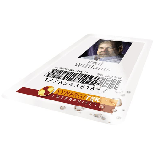 GBC Swingline 7mil UltraClear Badge ID Card Size Thermal Laminating Pouches 100pk - B (3200016) Image 1