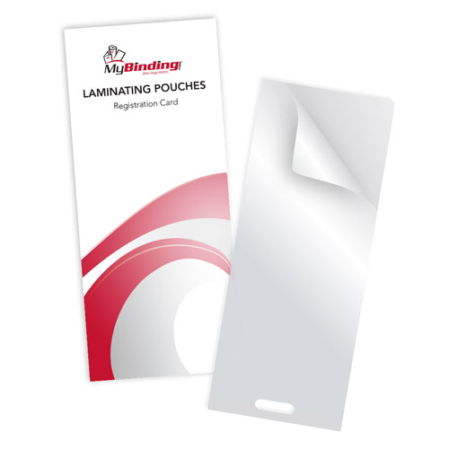 "7MIL Registration Card 3-1/2"" x 9"" Laminating Pouches with Short Side Slot - 100pk (SSLTLP7REGISTRATION) Image 1"