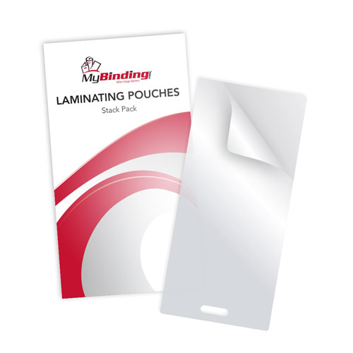 "7MIL Stack Pack 4"" x 9"" Laminating Pouches with Short Side Slot - 100pk (SSLTLP7STACKPACK) Image 1"