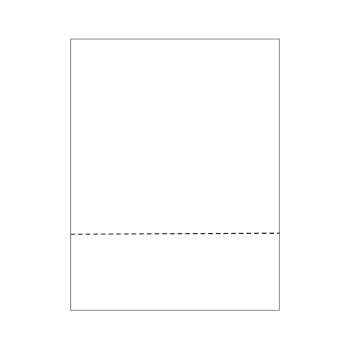 "Zapco 8.5"" x 11"" Cardstock Single-Perforated 3.66"" From Bottom - 250 Sheets (ZAPMBF-3-67VB), Zapco brand Image 1"