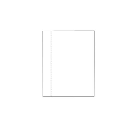 "Zapco 8.5"" x 11"" Cardstock Single Vertical Perforated - 250 Sheets (ZAPSVPC8511)"
