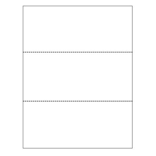 "Zapco 8.5"" x 11"" Cardstock Double-Perforated in 3 Equal Parts - 250 Sheets (ZAPMBF-2-67VB) Image 1"