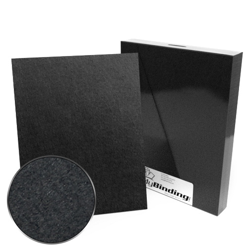 "8.5"" x 11"" Letter Size 80pt Black Book Board Binding Covers - 25pk (MYBBB8.5X11-80) Image 1"