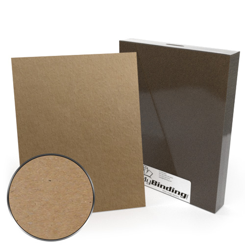 "8.5"" x 11"" Letter Size 79pt Brown Book Board Binding Covers - 25pk (MYCBCBRW8.5X11-79) Image 1"