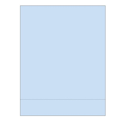 "Zapco 8.5"" x 11"" Cardstock Single Perforated 2"" from bottom - 250 Sheets (ZAPBF1168-67VB) Image 1"