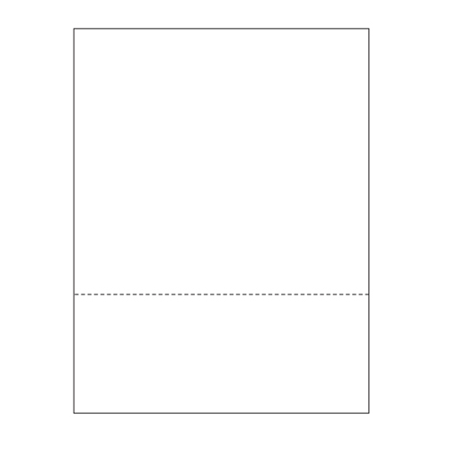 "Zapco 8.5"" x 11"" Cardstock Single Perforated 3.5"" from bottom - 250 Sheets (ZAPBF1166-67VB) Image 1"