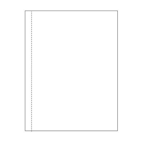 "Zapco 8.5"" x 11"" Cardstock Single Vertical Perforated 0.5"" from left - 250 Sheets (ZAPBF1165-67VB) Image 1"
