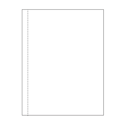 "Zapco 8.5"" x 11"" Single Vertical Perforated 0.5"" from left - 500 Sheets (ZAPBF1165)"