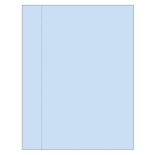 "Zapco 8.5"" x 11"" Cardstock Single Vertical Perforated 1.5"" from left - 250 Sheets (ZAPBF1174-67VB)"
