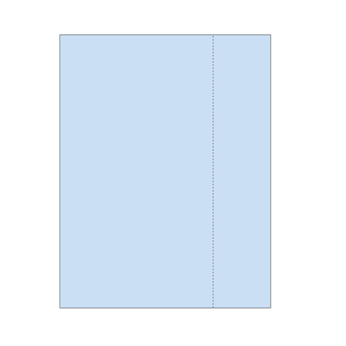 "Zapco 8.5"" x 11"" Single Vertical Perforated 6.25"" from left - 500 Sheets (ZAPBF1173)"