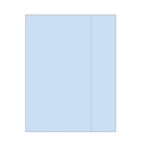 "Zapco 8.5"" x 11"" Cardstock Single Vertical Perforated 6.25"" from left - 250 Sheets (ZAPBF1173-67VB) Image 1"
