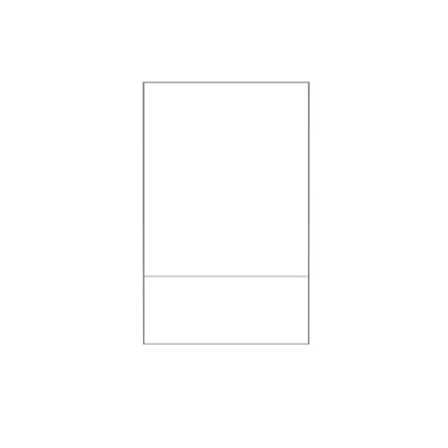 "Zapco 8.5"" x 14"" Cardstock Single-Perforated from bottom - 250 Sheets (ZAPSPBC8514) Image 1"
