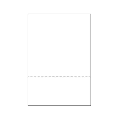 "Zapco 8.5"" x 14"" Cardstock Single-Perforated 3.5"" from bottom - 250 Sheets (ZAPBF1164-67VB) Image 1"