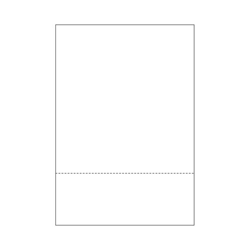 "Zapco 8.5"" x 14"" Cardstock Single-Perforated 3"" from bottom - 250 Sheets (ZAPBF1135-67VB) Image 1"