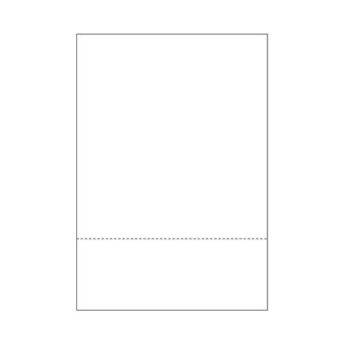 "Zapco 8.5"" x 14"" Cardstock Single-Perforated 3"" from bottom - 250 Sheets (ZAPBF1135-67VB), Zapco brand Image 1"