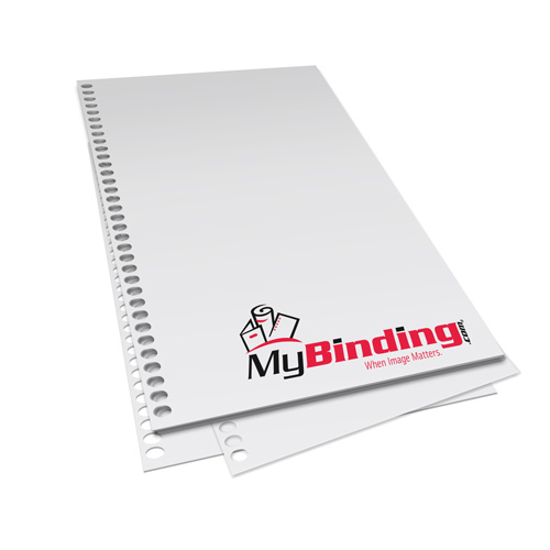 "5.5"" x 8.5"" 28lb 4:1 Coil 34-Oval Hole Pre-Punched Binding Paper - 1250 Sheets (MY8.5X5.544O.25PBP28CS) Image 1"